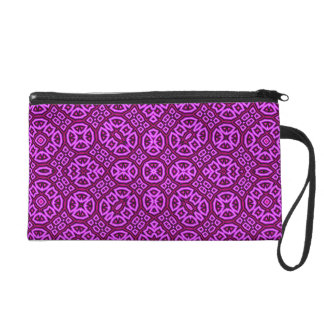Abstract Pattern purple Wristlet Clutches