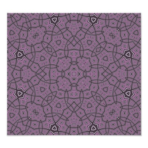 Abstract Pattern Purple Photographic Print