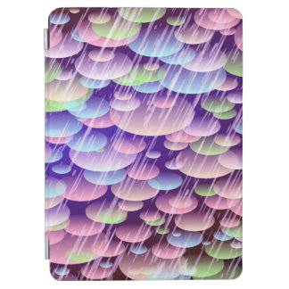 Abstract Pattern Purple Rain Clouds iPad Air Cover