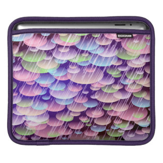 Abstract Pattern Purple Rain Clouds iPad Sleeve