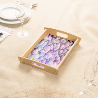 Abstract Pattern Purple Rain Clouds Serving Tray