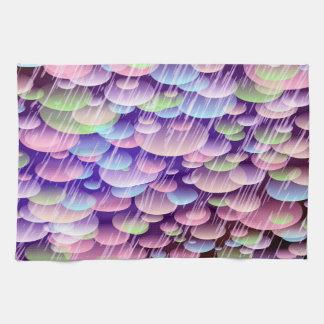 Abstract Pattern Purple Rain Clouds Tea Towel