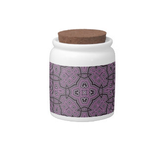 Abstract Pattern purple Candy Jars