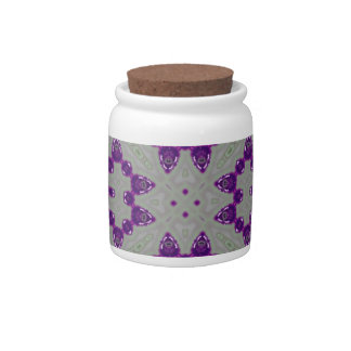 Abstract Pattern Purple Candy Dishes