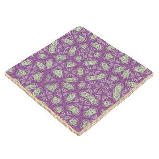 Abstract Pattern purple Wood Coaster