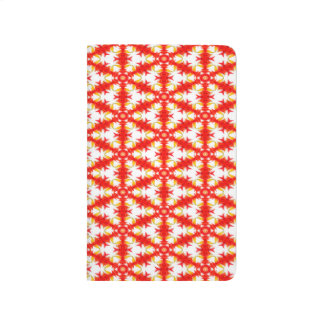 Abstract Pattern Red And White Background Journal