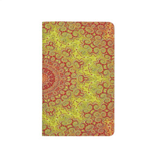 Abstract Pattern Red And Yellow Mosaic Tile Journal