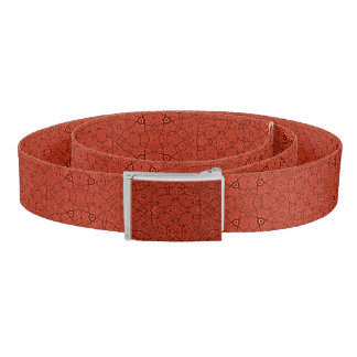 Abstract Pattern Red Belt