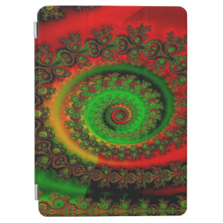 Abstract Pattern Red Green And Yellow Whirl iPad Air Cover