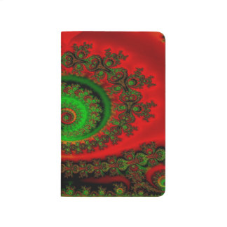 Abstract Pattern Red Green And Yellow Whirl Journal