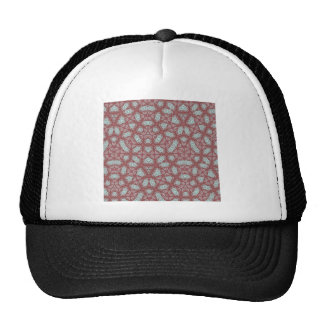 Abstract Pattern Red Hats