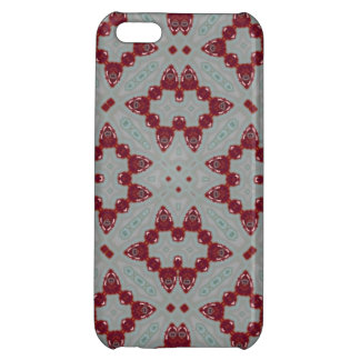 Abstract Pattern red Cover For iPhone 5C