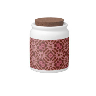 Abstract Pattern red Candy Jar