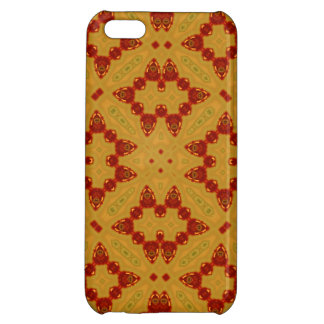 Abstract Pattern red yellow iPhone 5C Cases