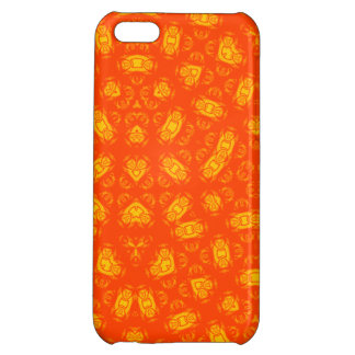Abstract Pattern red yellow Cover For iPhone 5C