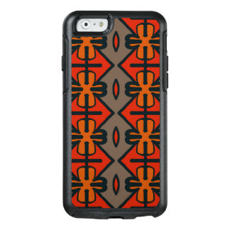 Abstract Pattern Seamless Gray And Orange OtterBox iPhone 6/6s Case