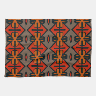 Abstract Pattern Seamless Gray And Orange Tea Towel