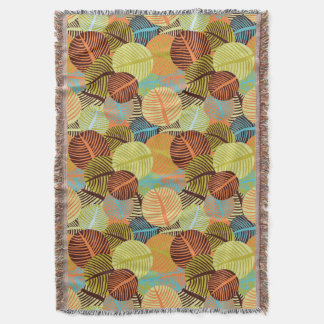 Abstract pattern throw blanket