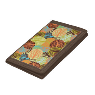 Abstract pattern tri-fold wallet