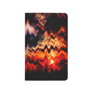 Abstract Pattern Wavy Colors Journal