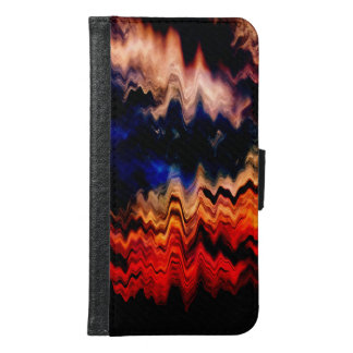 Abstract Pattern Wavy Colors Samsung Galaxy S6 Wallet Case