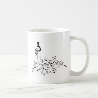Abstract Pattern Wedding Bride Silhouette Coffee Mug