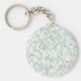 Abstract Pattern White Background Whirls Basic Round Button Key Ring