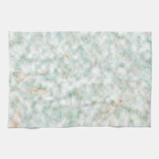 Abstract Pattern White Background Whirls Tea Towel
