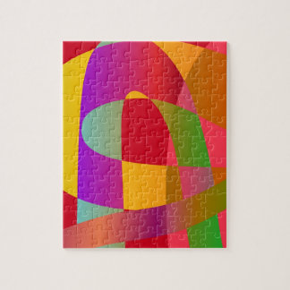 Abstract pattern with bright stylish serpentine jigsaw puzzle