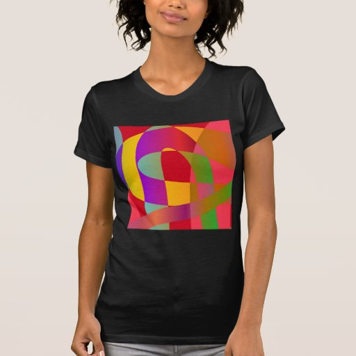 Abstract pattern with bright stylish serpentine t-shirts