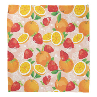 Abstract pattern with strawberry head kerchiefs