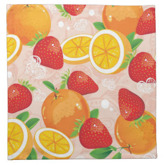 Abstract pattern with strawberry napkin