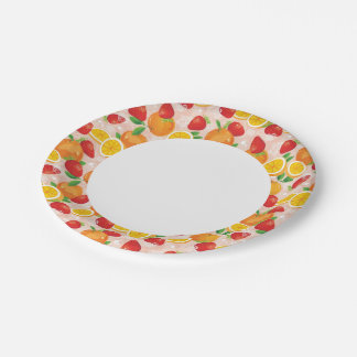 Abstract pattern with strawberry paper plate