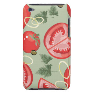 Abstract pattern with tomato barely there iPod cases