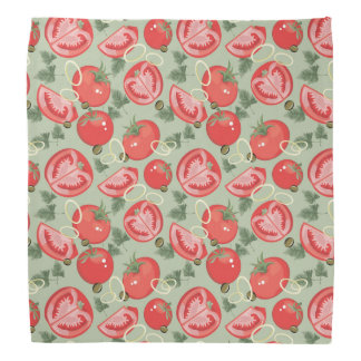 Abstract pattern with tomato head kerchiefs