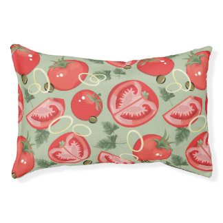 Abstract pattern with tomato pet bed
