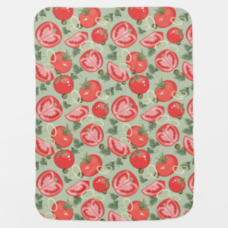 Abstract pattern with tomato pramblanket
