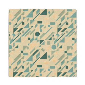Abstract pattern wood coaster