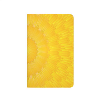 Abstract Pattern Yellow Wave Journal