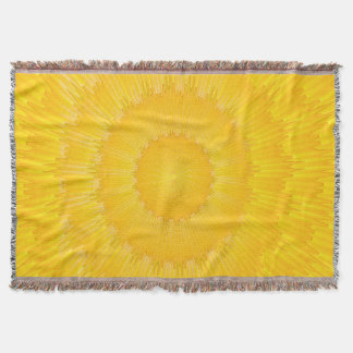 Abstract Pattern Yellow Wave Throw Blanket