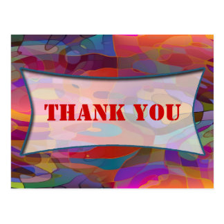 Abstract Pattern & your text | THANK YOU Post Cards