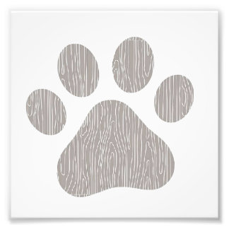 Abstract paw print wall hanging photo