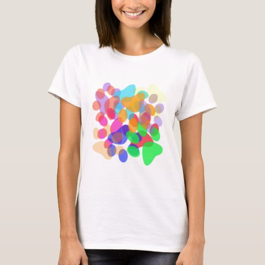 Abstract Paw Prints Light Shirt Female