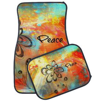 Abstract Peace Car Mat