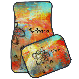 Abstract Peace Floor Mat