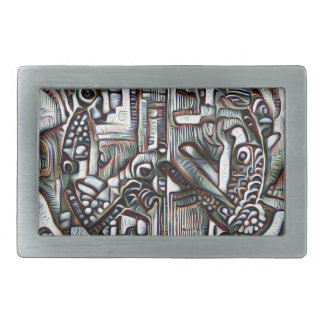 Abstract peace symbol belt buckle