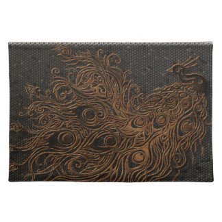 Abstract Peacock Bronze Placemat