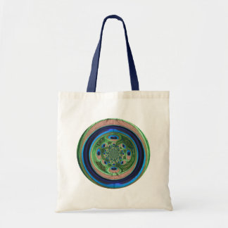Abstract Peacock Budget Tote Bag