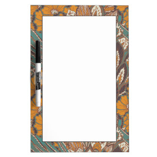 Abstract Peacock Feather Pattern Dry Erase Board