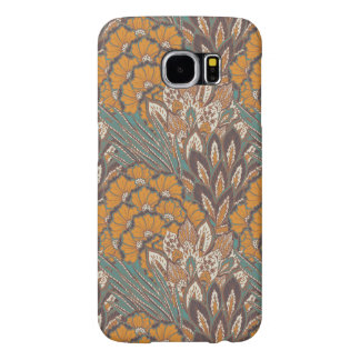 Abstract Peacock Feather Pattern Samsung Galaxy S6 Cases